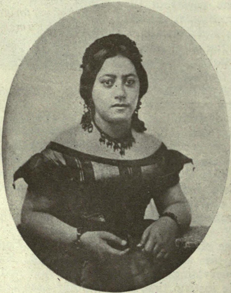 Queen Emma of Hawaii, c. 1859, The Overland Monthly (1912).jpg English: Queen Emma of Hawaii. A book The Queen's Medical Center dates this