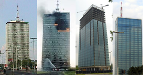 Destruction and reconstruction of Ušće tower