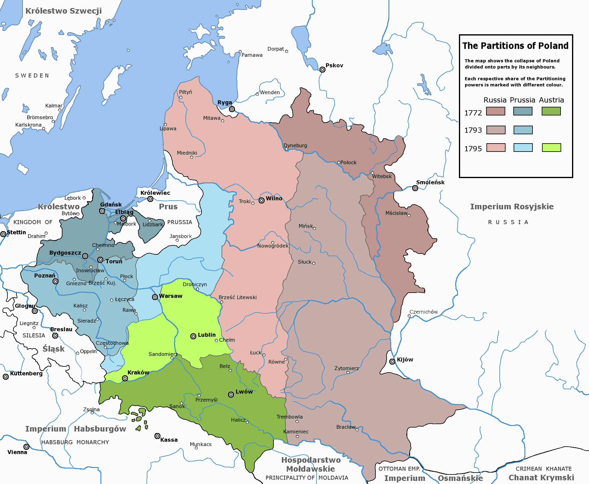 The Partitions of the Polish–Lithuanian Commonwealth