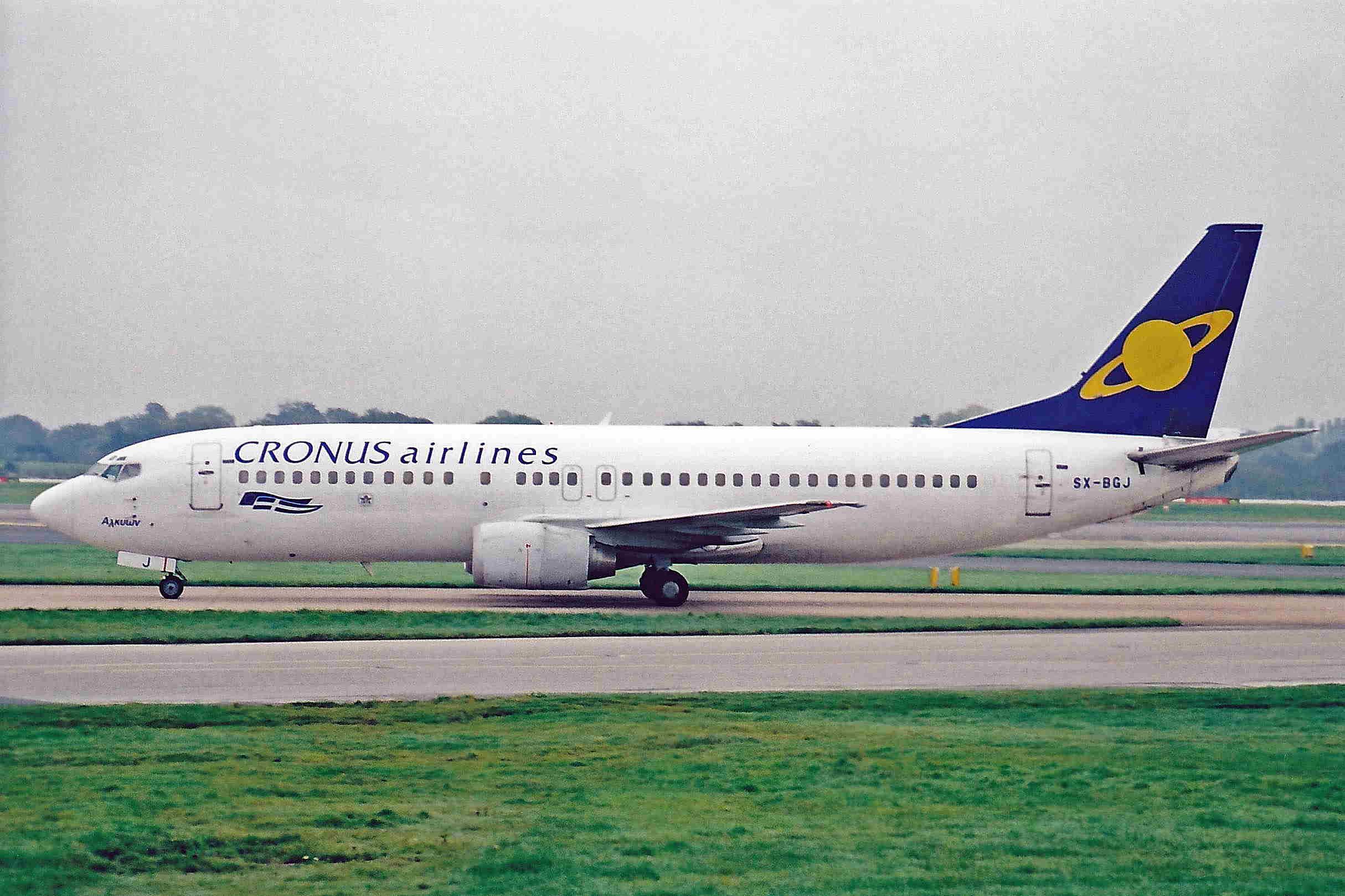 File:SX-BGJ 1 B737-4S3 Cronus Airlines MAN 21OCT01 (6942728148).jpg -  Wikimedia Commons