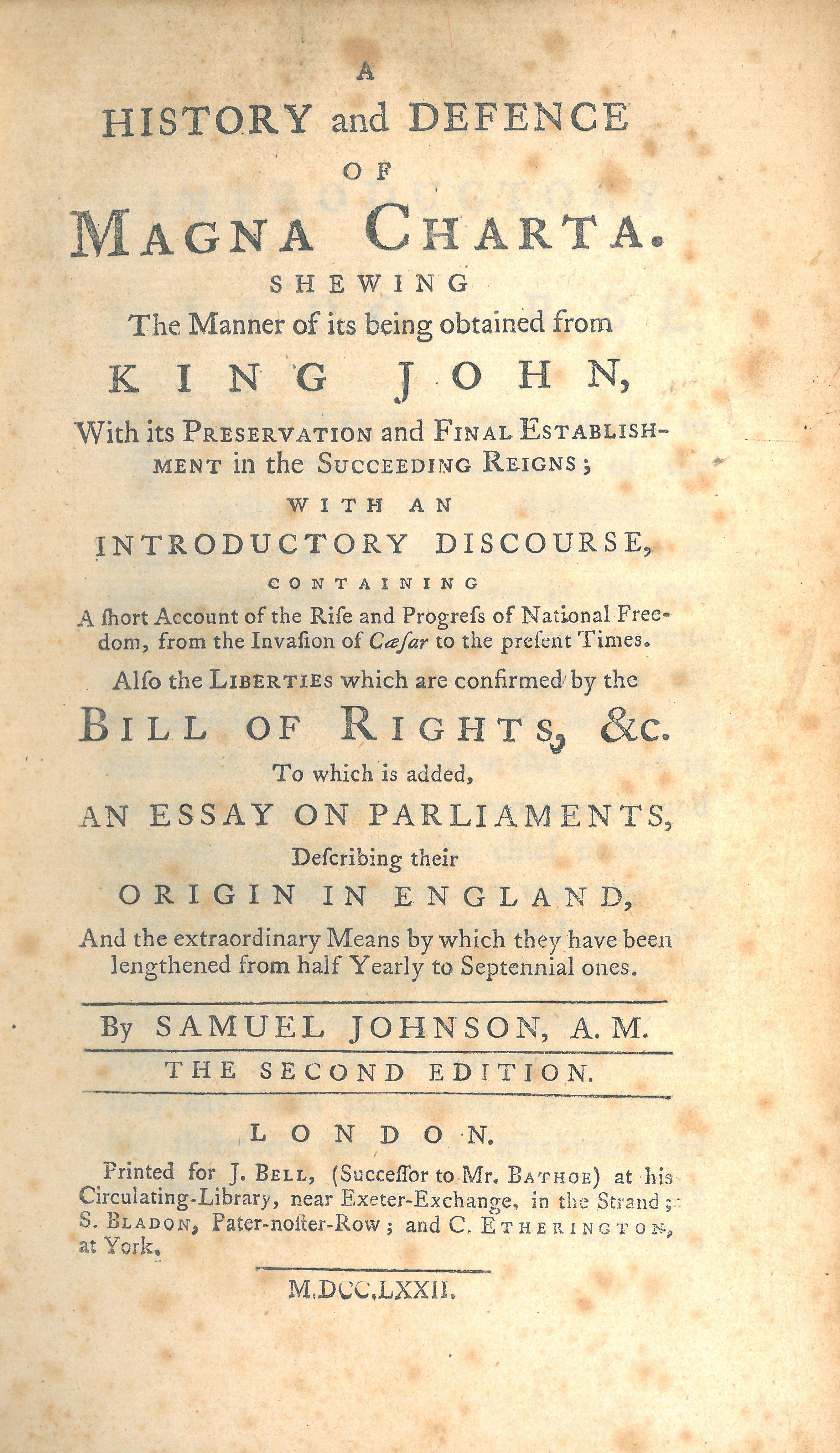 history of magna carta pdf