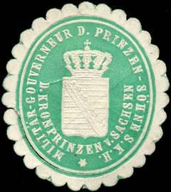 File:Siegelmarke Militär - Gouverneur der Prinzen - Söhne Seiner Königlichen Hoheit des Kronprinzen von Sachsen W0205333.jpg