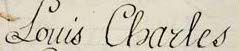 Signature of Louis Charles of France, Duke of Normandy later known as Louis XVII of France.jpg