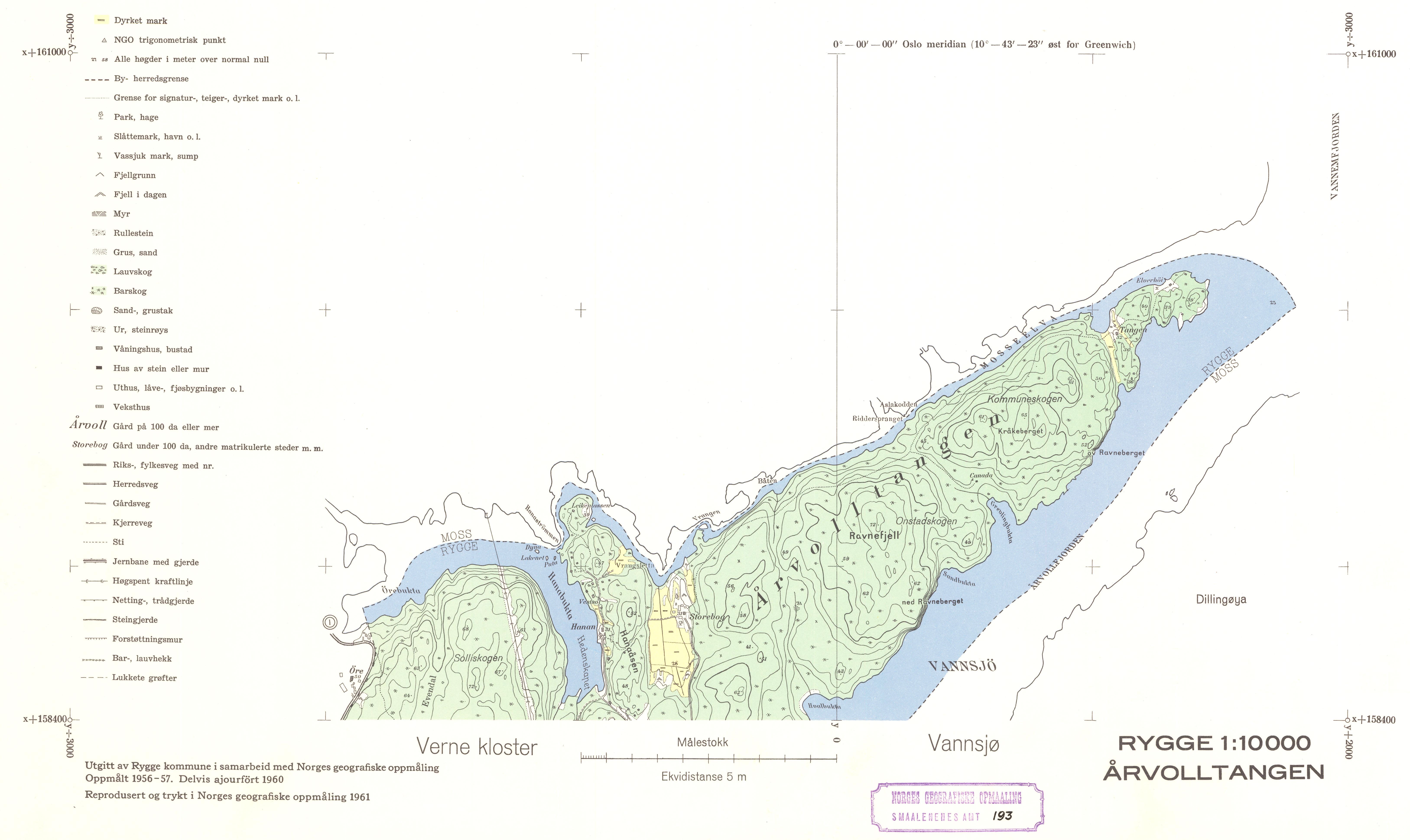 kart over rygge File:Smålenenes amt nr 193 6  Kart over Rygge; Årvolltangen, 1961  kart over rygge