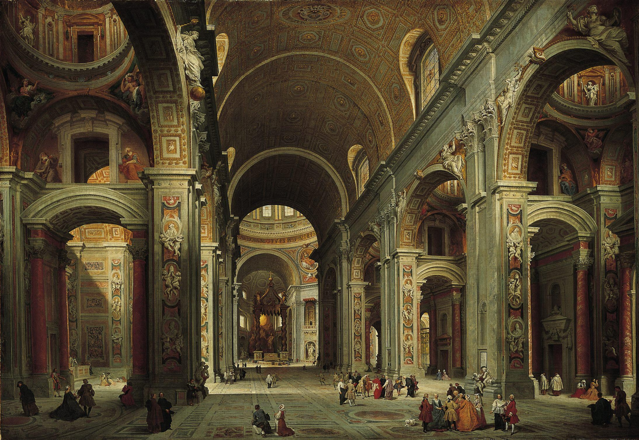 Vatican Painting Of St Peter S Basilica