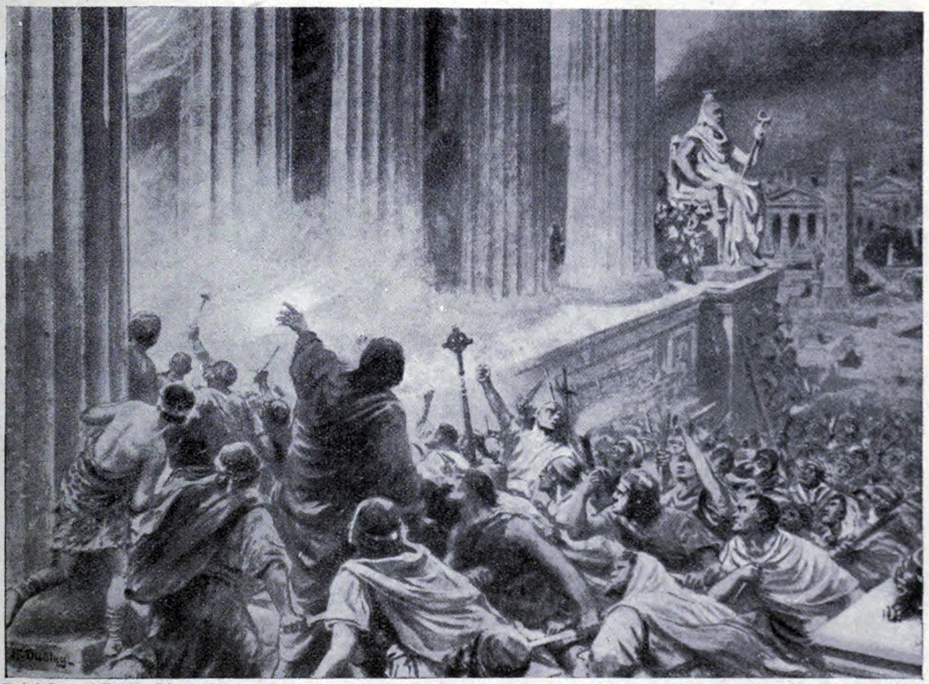 Spálení alexandrijské knihovny