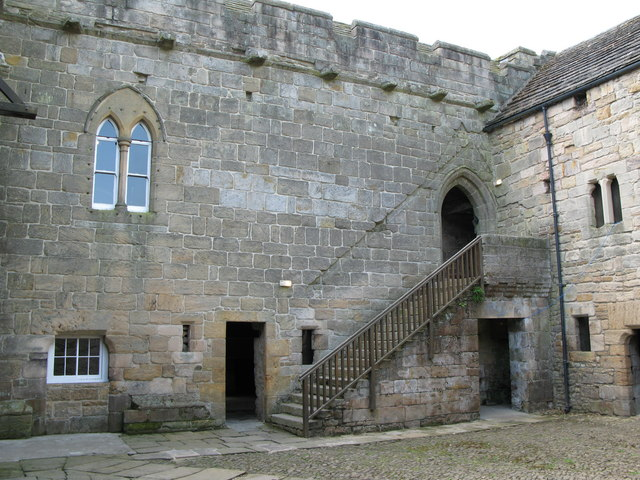 The courtyard of Aydon Castle - geograph.org.uk - 463661