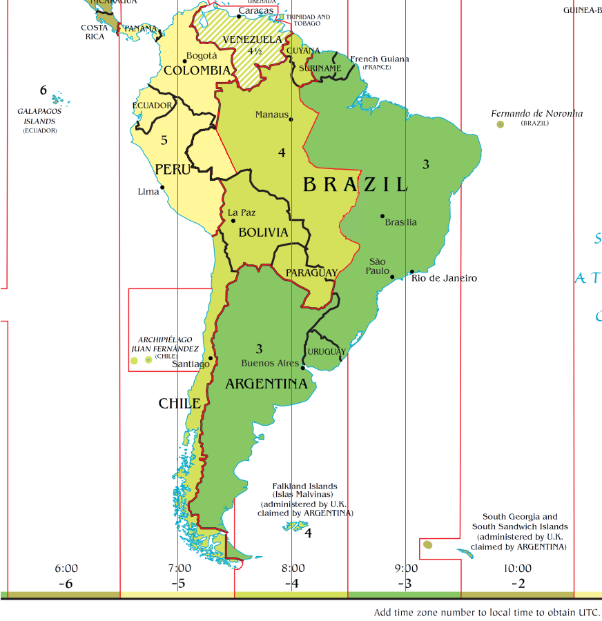 FileTime Zone Map Of South America Png Wikimedia Commons - Central america time zone