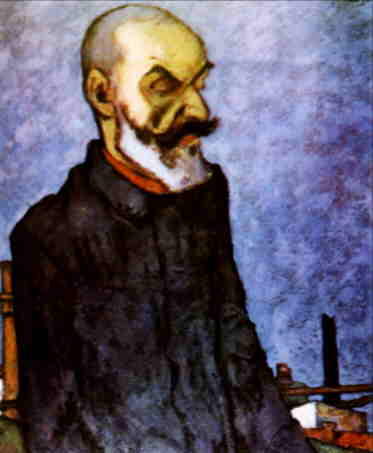 """''Omul unei lumi noi'' (""""The Man of a New World""""), 1920 portrait of Gala Galaction"""