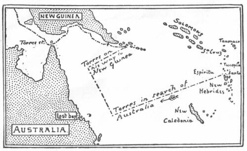 Маршрут Луи́са Ва́эс де То́рреса около Австралии