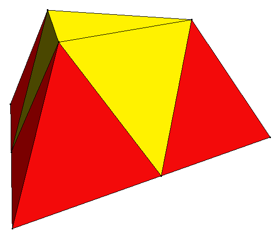 tetrahedron relationship to the two dimensional base polygon