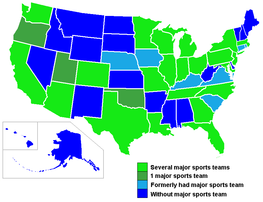 FileUSA States Major Sports TeamsPNG Wikimedia Commons - Map of us sports teams