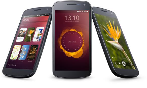trois téléphones sous Ubuntu Touch