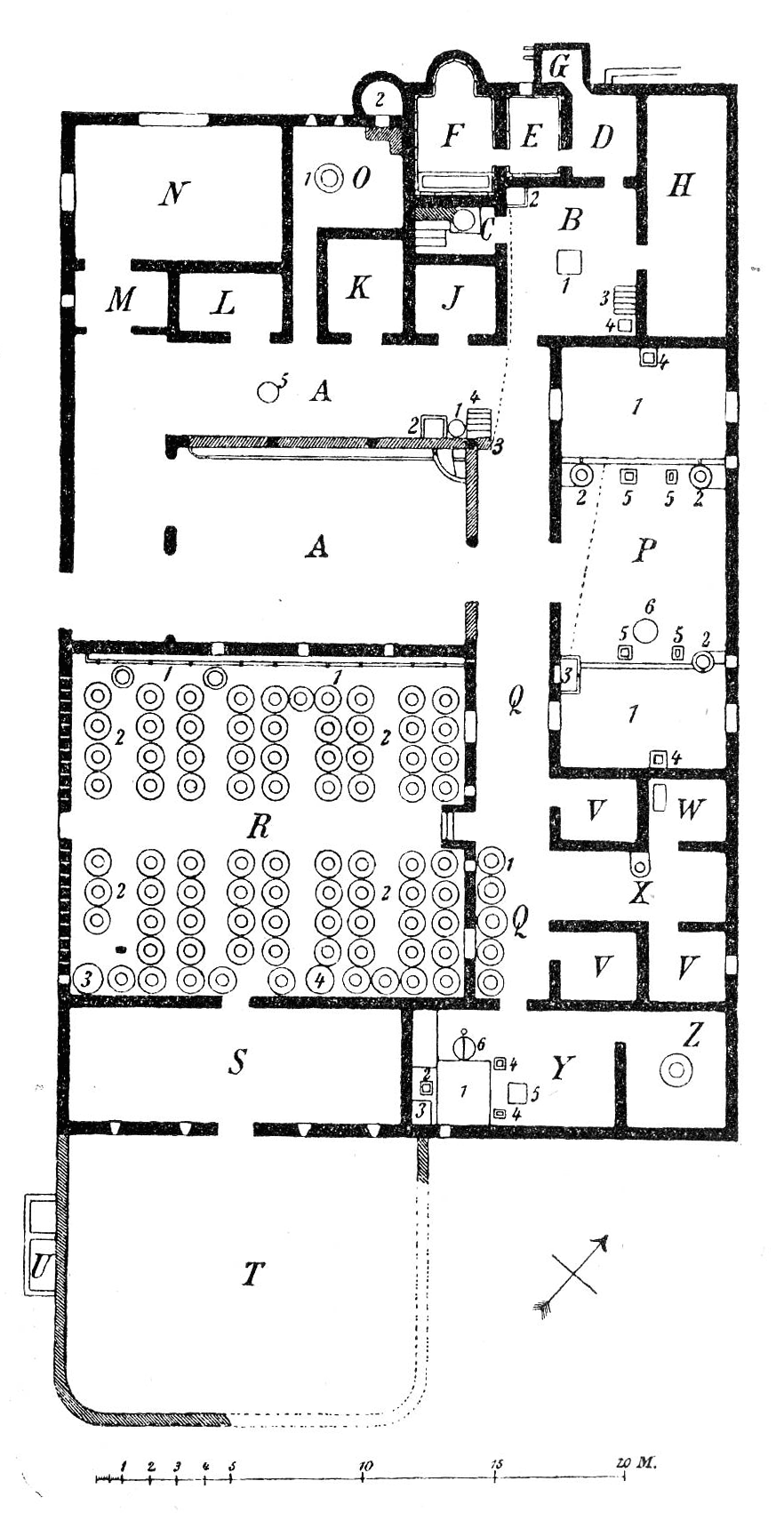 File Villa Boscoreale Plan Png Wikimedia Commons