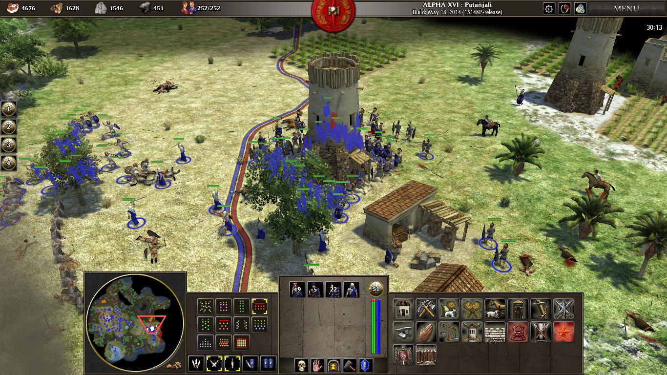 File:0 AD alpha 16 battle screenshot.png - Wikimedia Commons