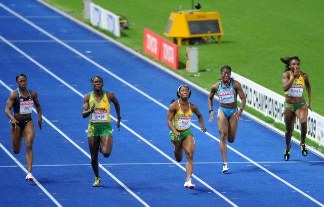 100 m women Berlin 2009