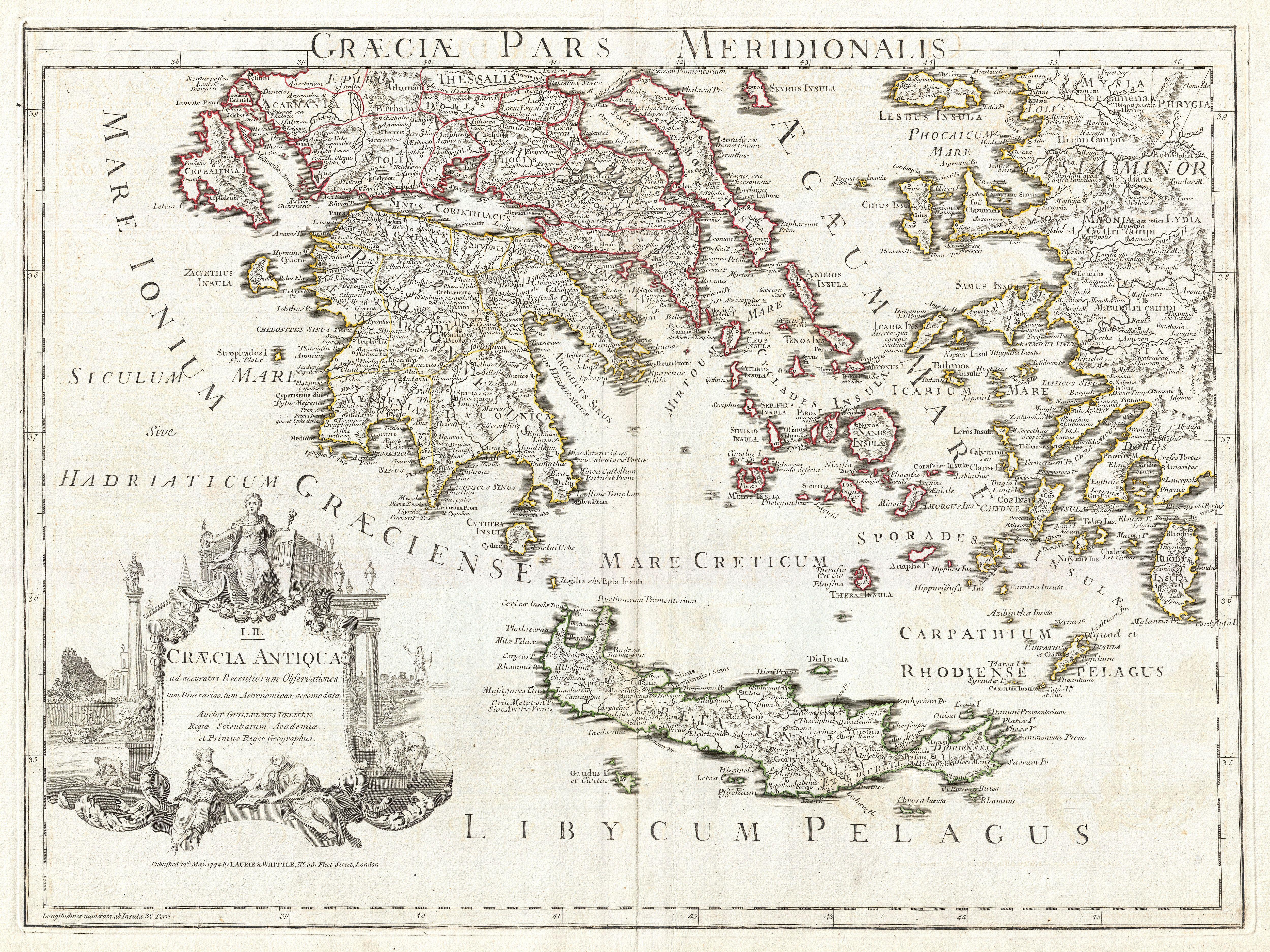 Umístění ostrova Kréta