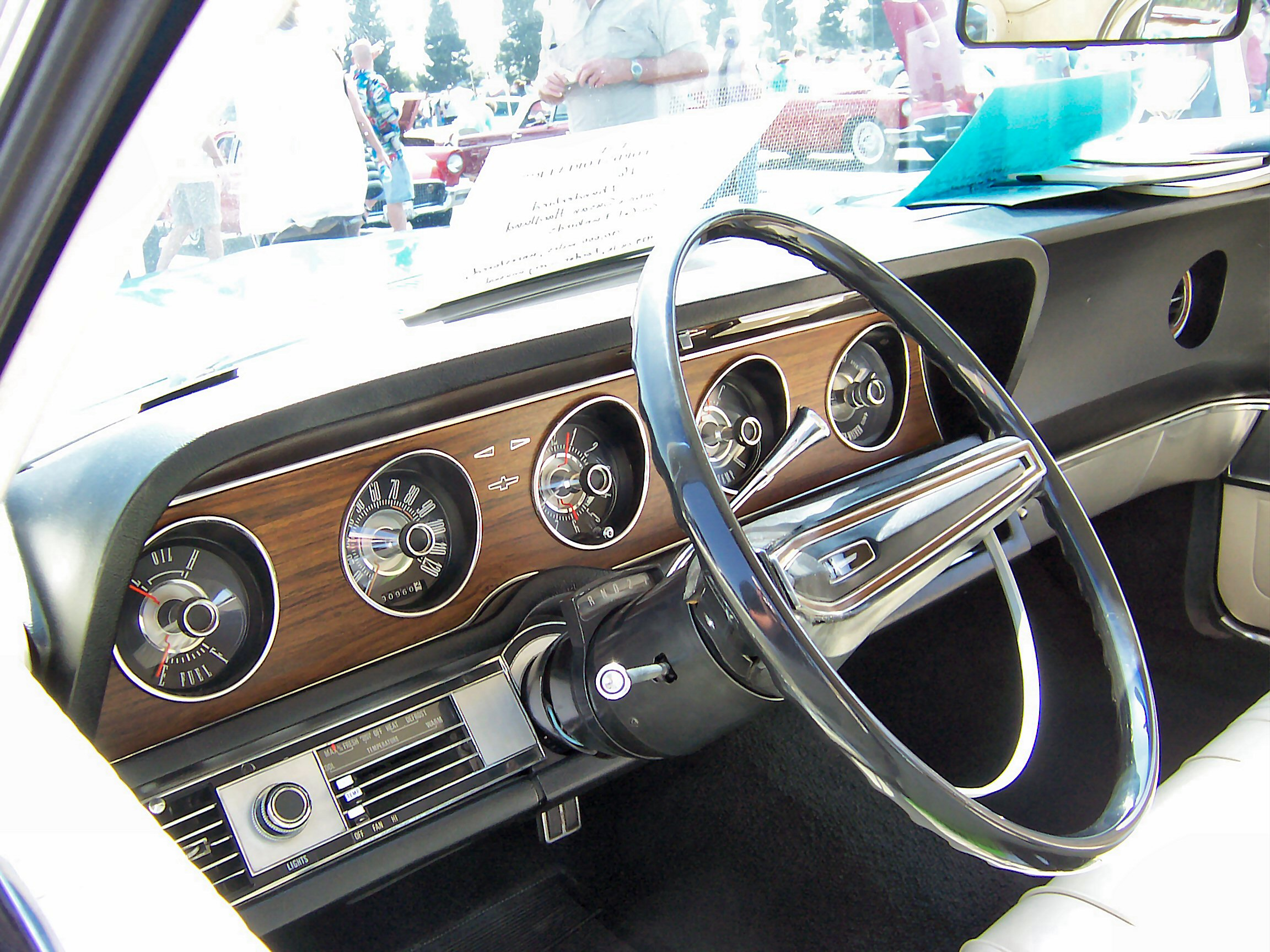 File1969 Blue Ford Thunderbird Interior