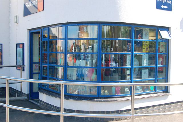 File art deco window at rnli shop for Art deco online shop