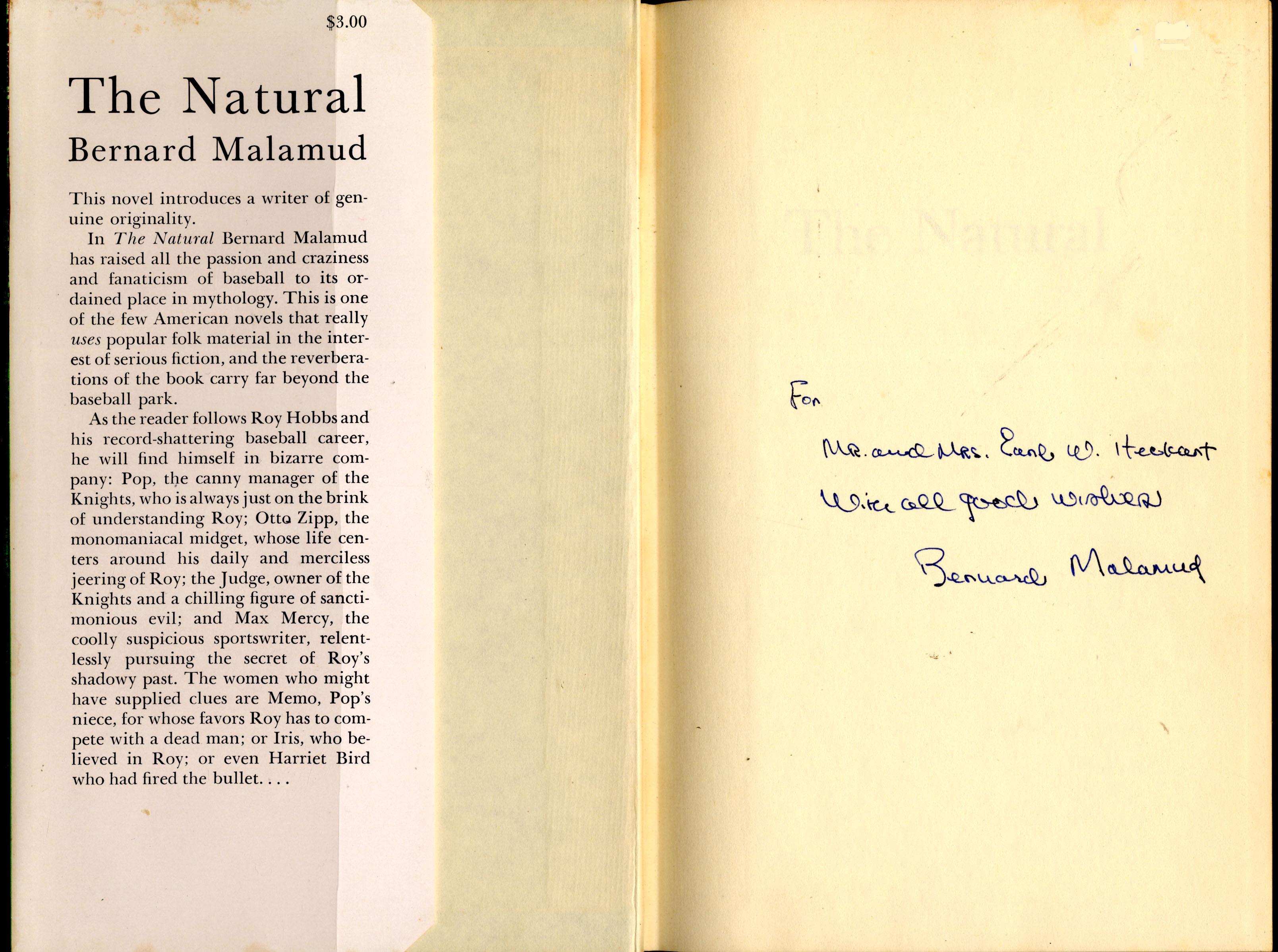 The Natural Bernard Malamud Pdf
