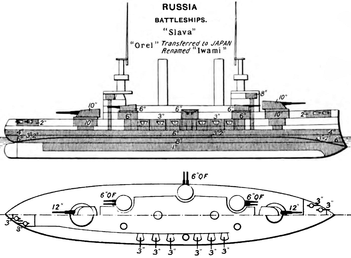 file borodino class battleship diagrams brasseys 1906 jpg