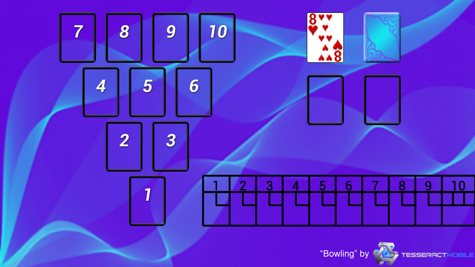 how to play bowling solitaire
