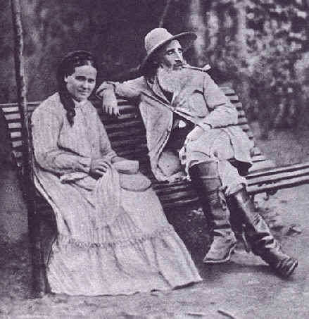 File:Camille Pissaro et sa femme Julie Vellay en 1877 à Pontoise.jpg