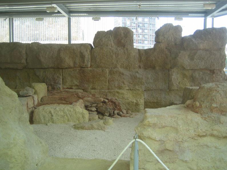 Yacimiento arqueológico de la muralla púnica de Carthago Nova (Actual Cartagena), ciudad tomada por Escipión en el 209a.C.