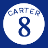 English: Gary Carter's Retired #8 with the Mon...