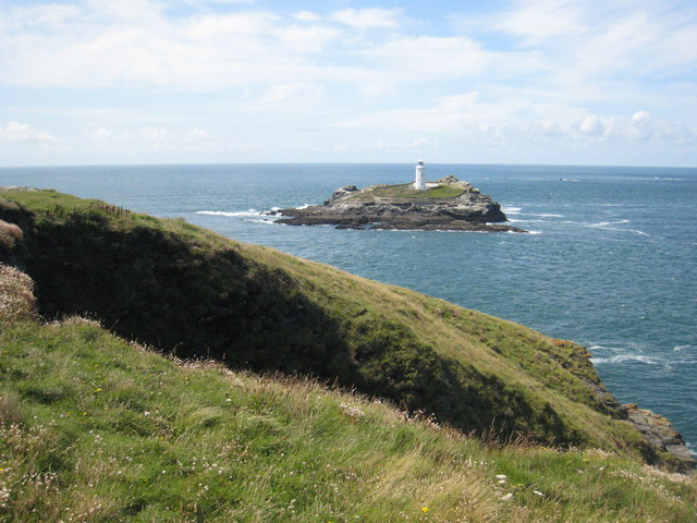 Cliff top on Godrevy Point - geograph.org.uk - 1435965