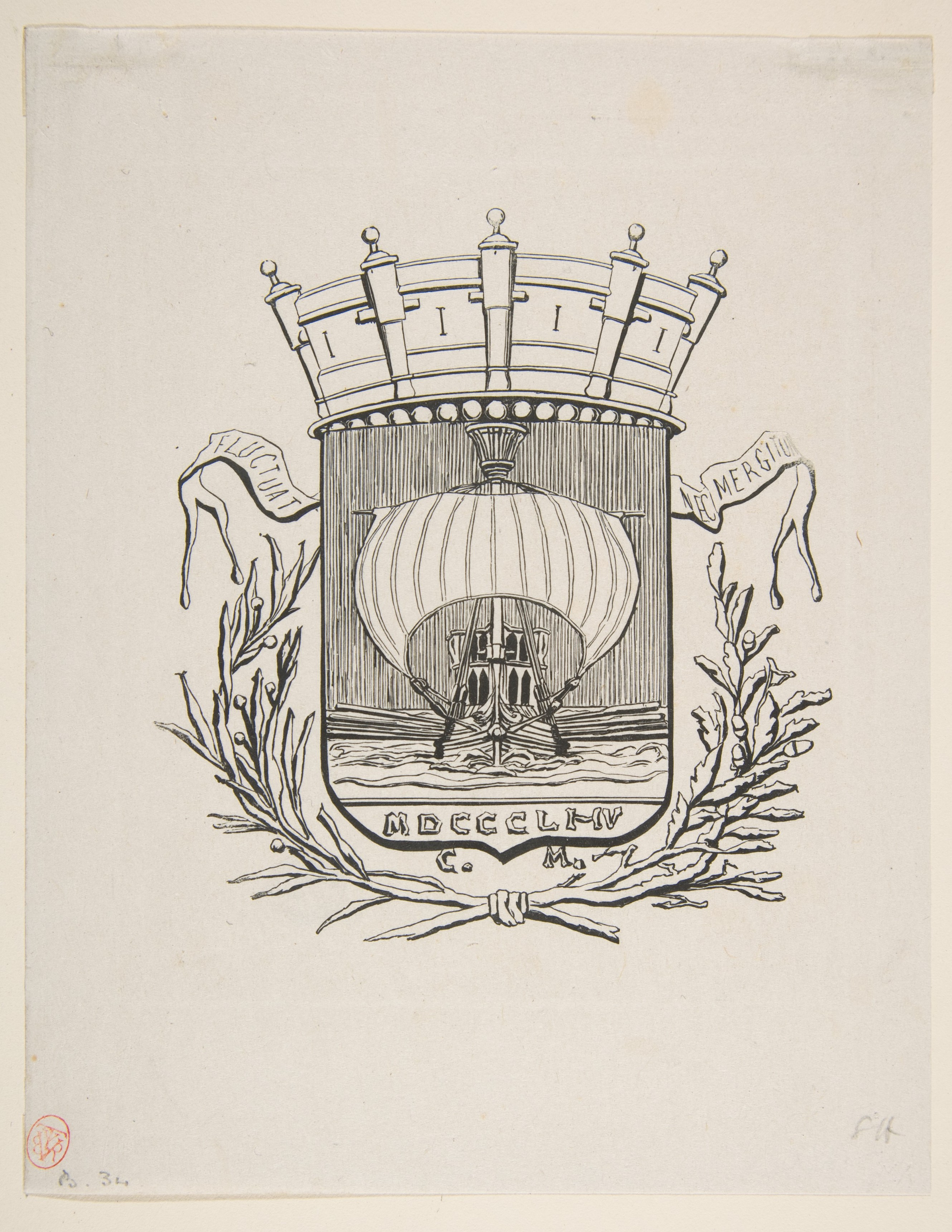 Filecoat of arms symbolic of the city of paris with the motto it filecoat of arms symbolic of the city of paris with the motto biocorpaavc Images