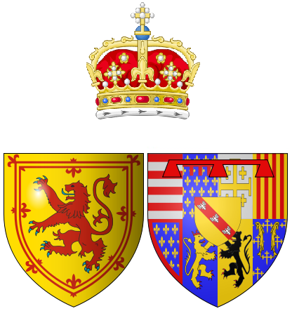 File:Coat of arms of Mary of Guise as Queen consort of Scots.png