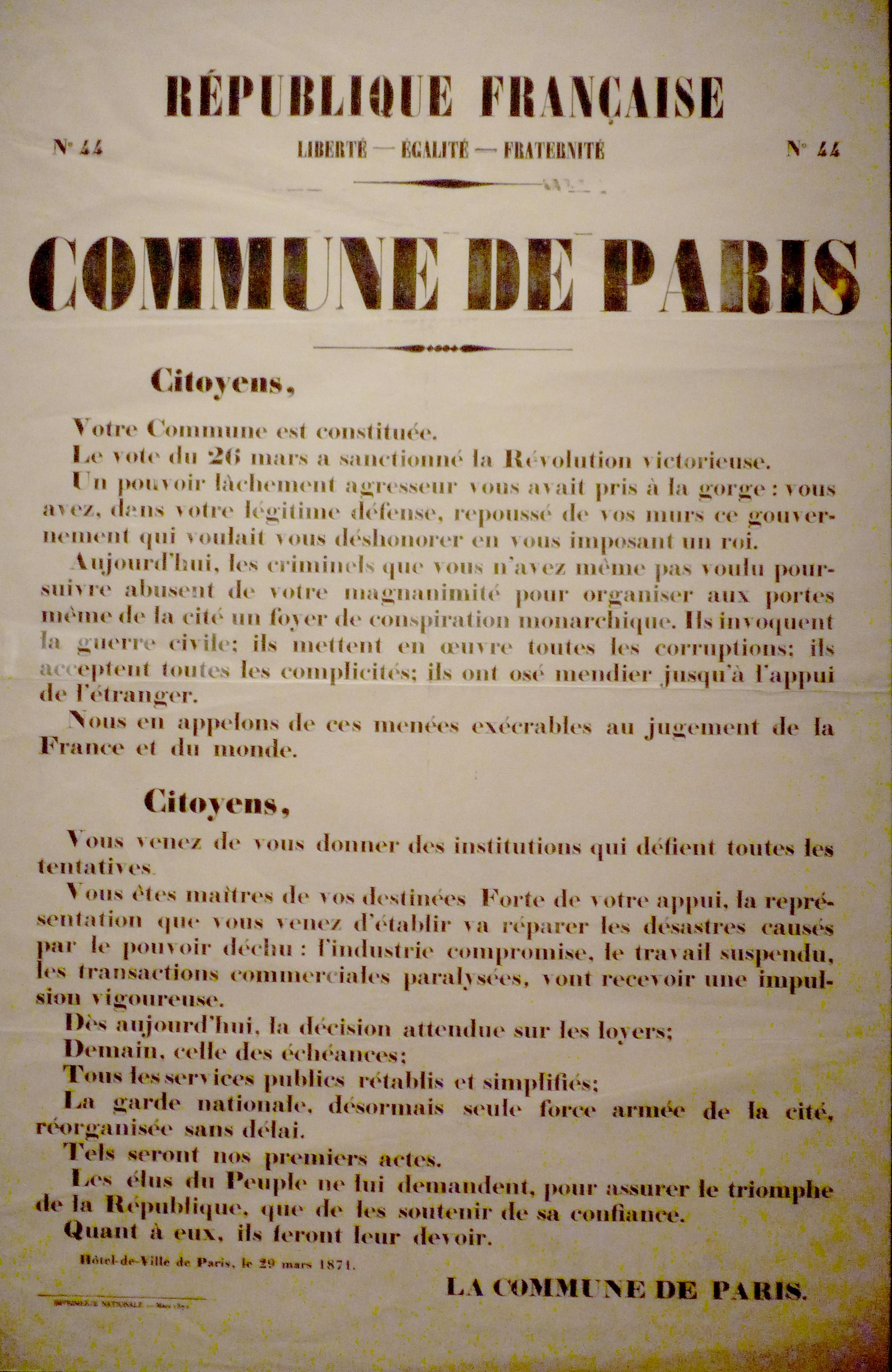 Exposition Hotel De Ville Paris