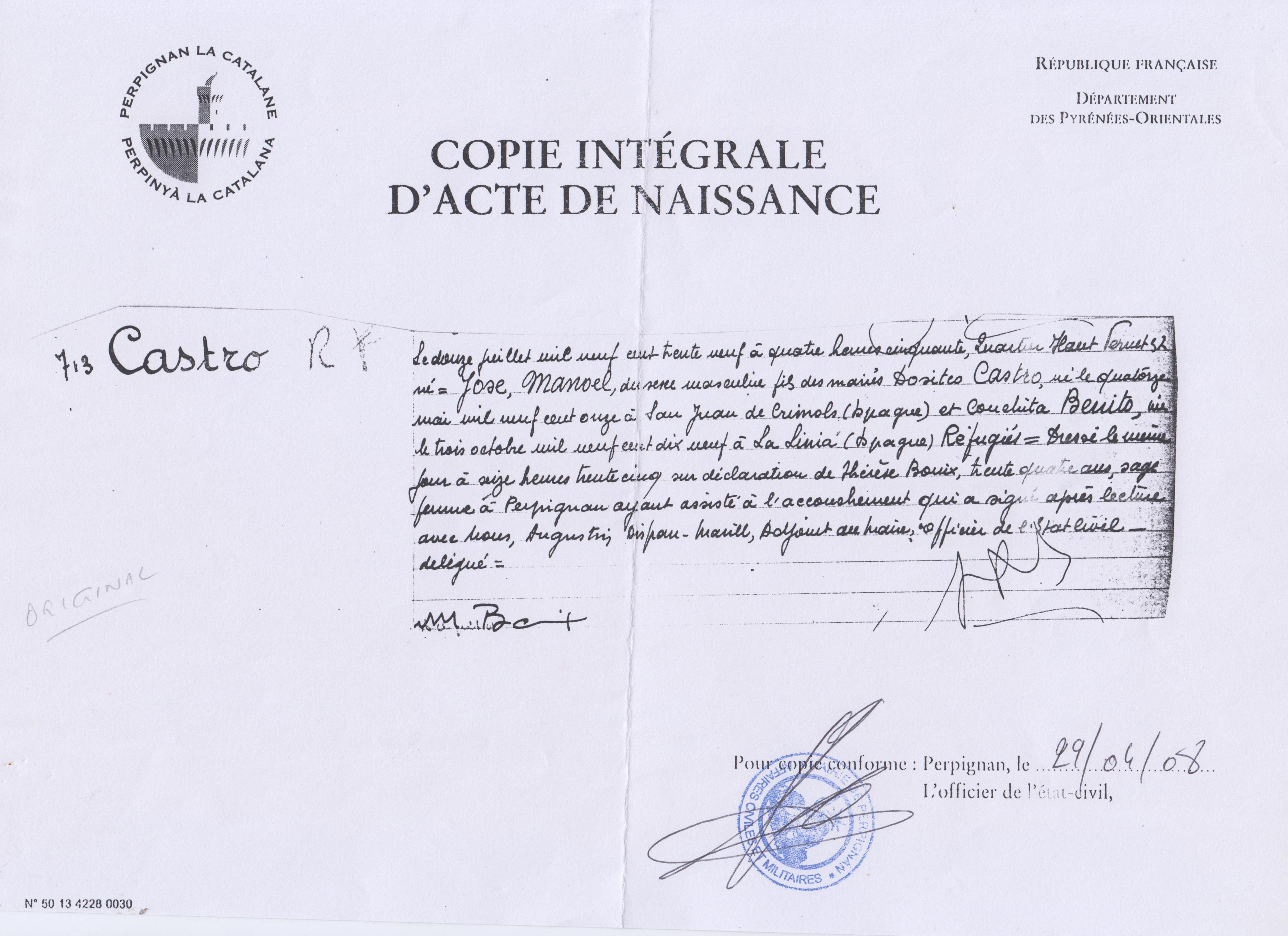 File:Copia del acta de nacimiento del hijo de exiliados españoles en ...