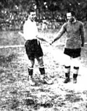 Chelsea v. Corinthians, in Sao Paulo. Both captains greet before the match