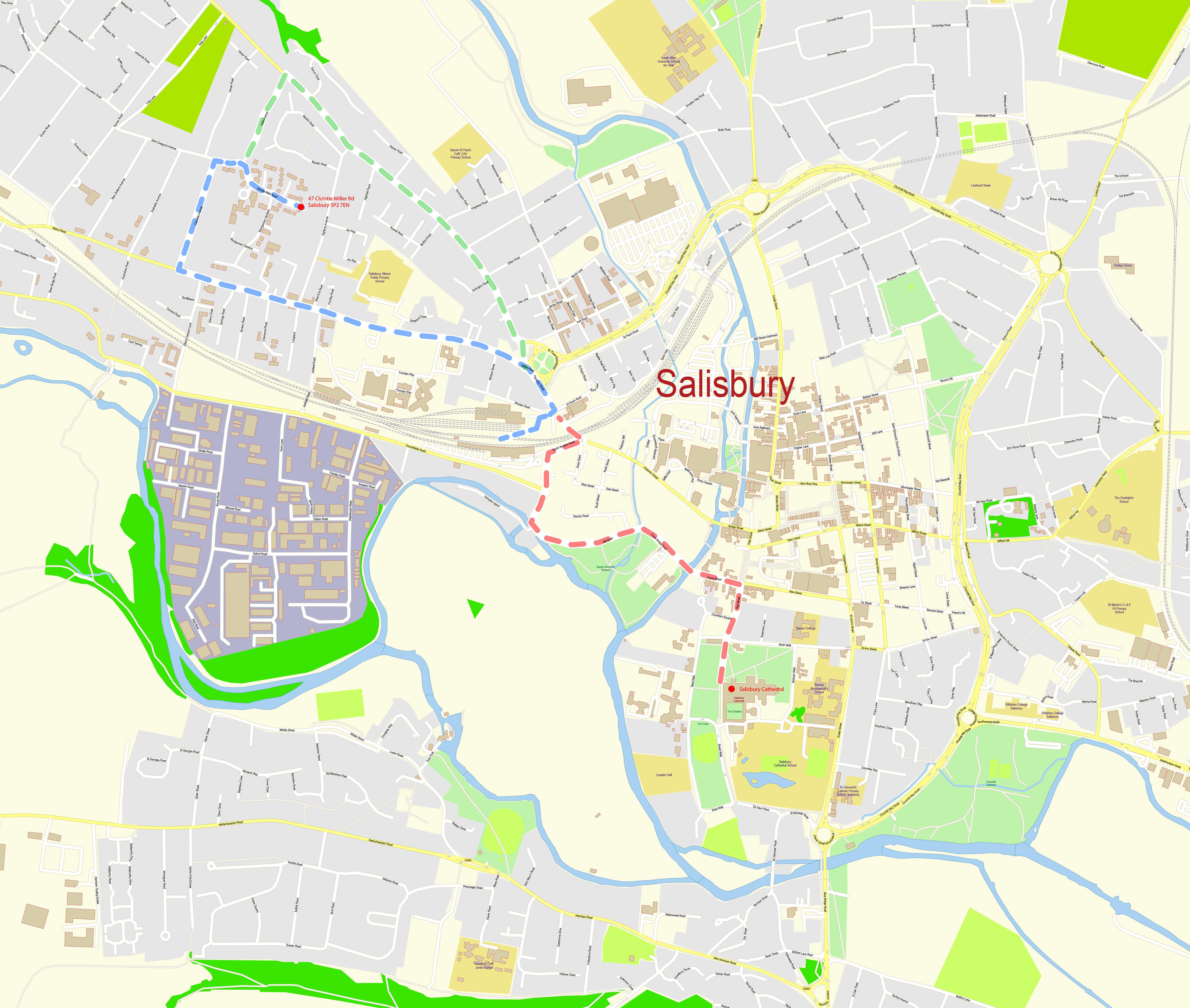 Map Of Salisbury File:Crime salisbury city street map pdf.   Wikimedia Commons