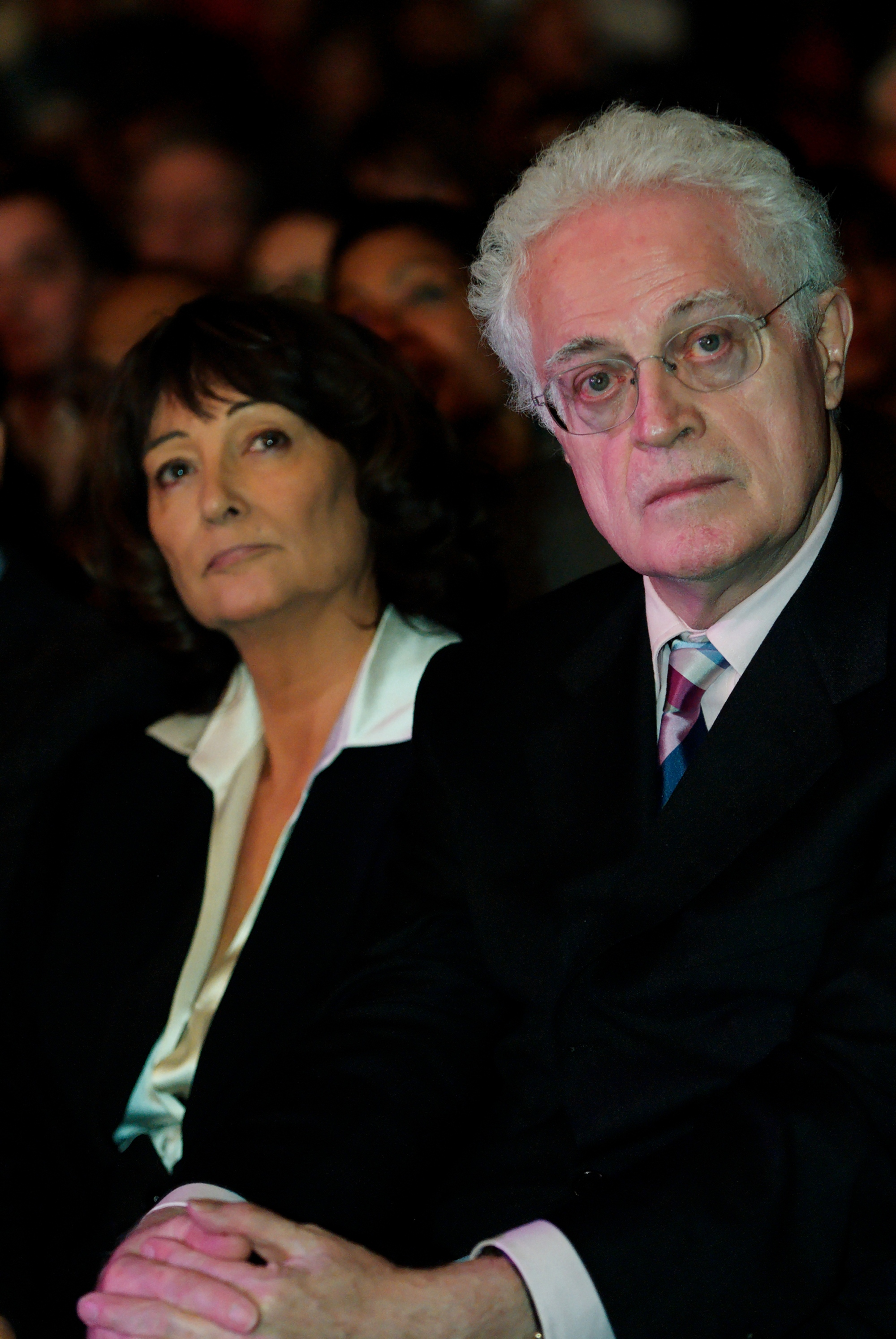 Sylviane Agacinski with husband Lionel Jospin, 2008.