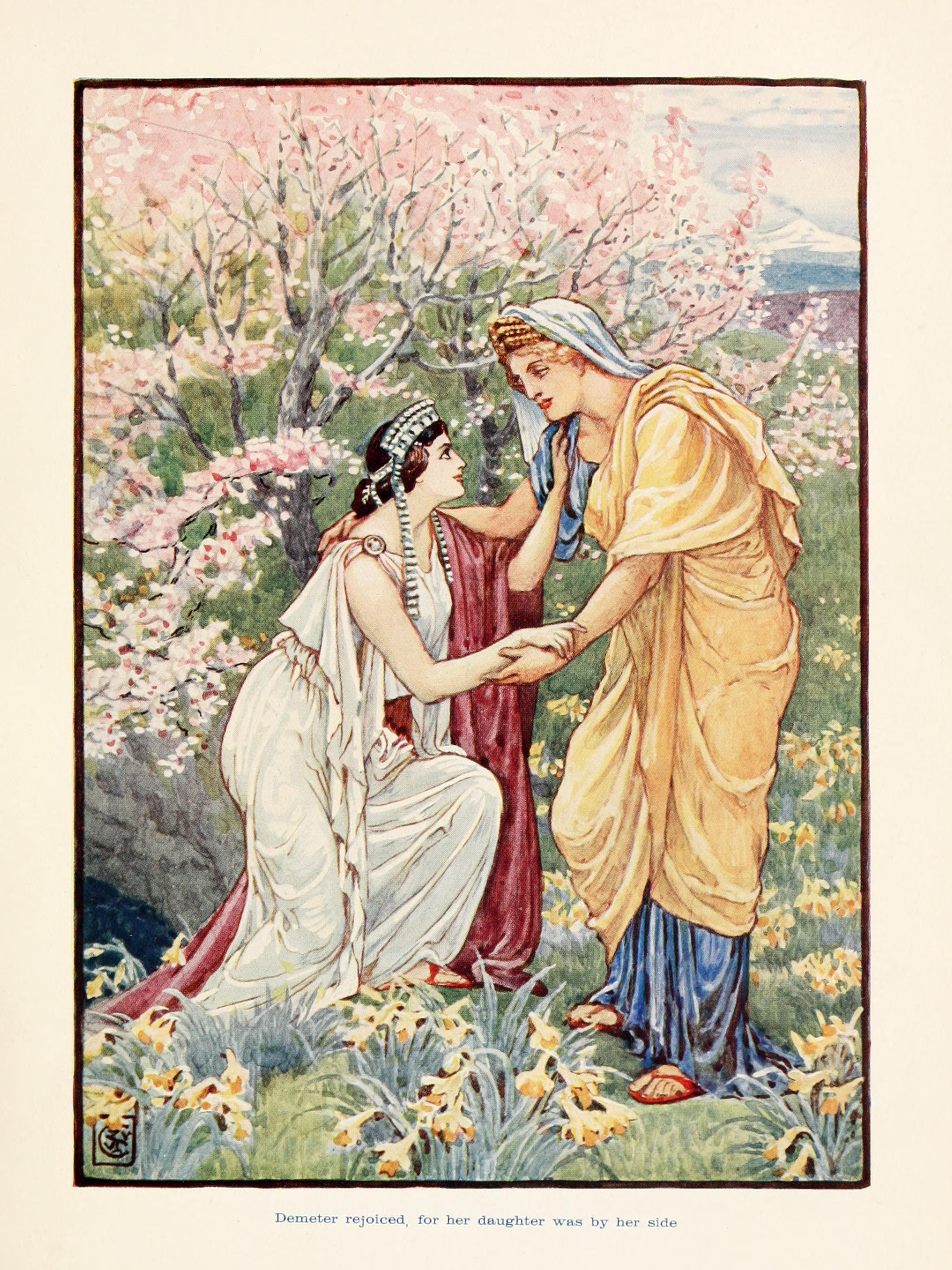 An image of Demeter and Persephone.