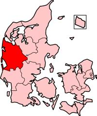 Ringkjøbing County in Denmark