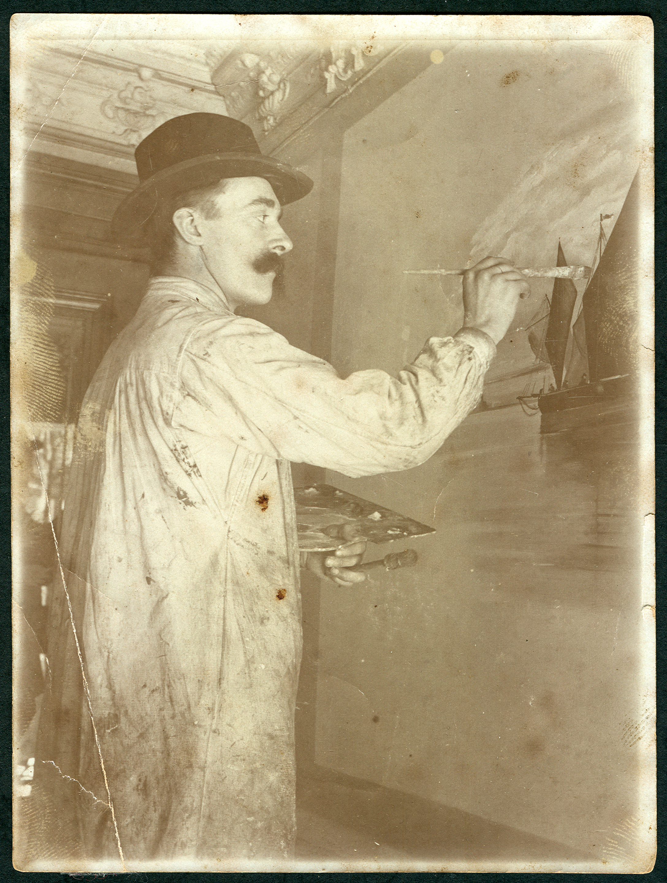 Maler Celle file der maler wilhelm mohrbotter im atelier in celle beim malen