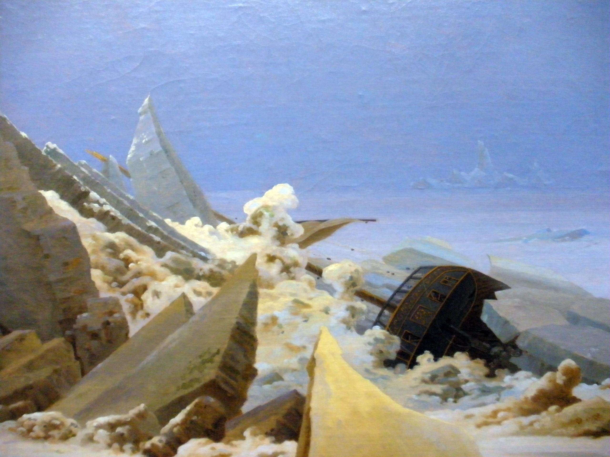 Landschaftsmalerei romantik friedrich  Das Eismeer – Wikipedia