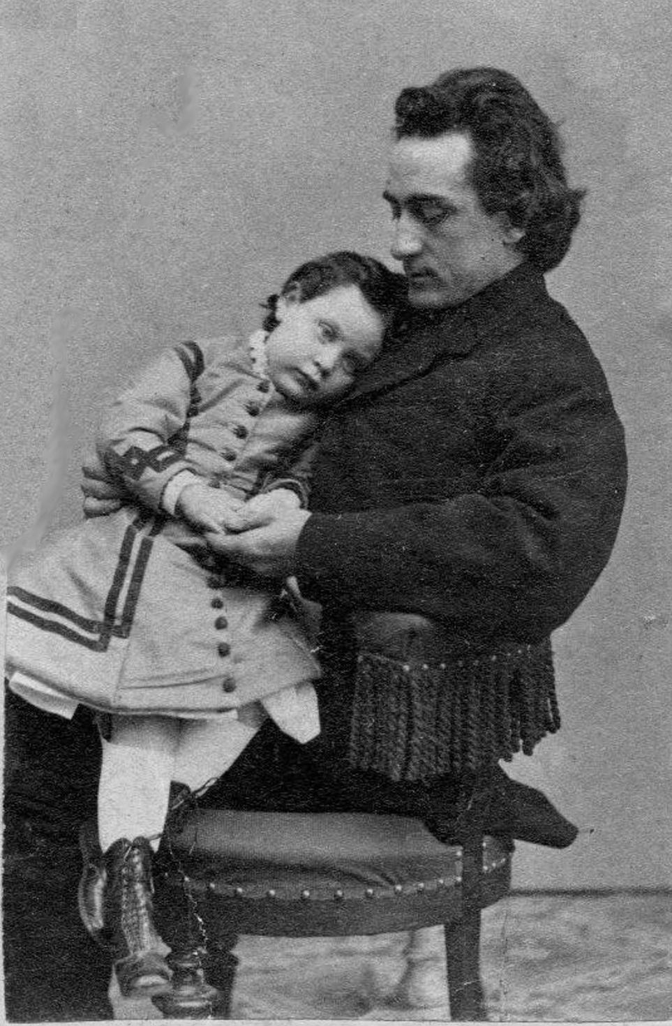 File Edwin Booth With Daughter Edwina Jpg Wikimedia Commons