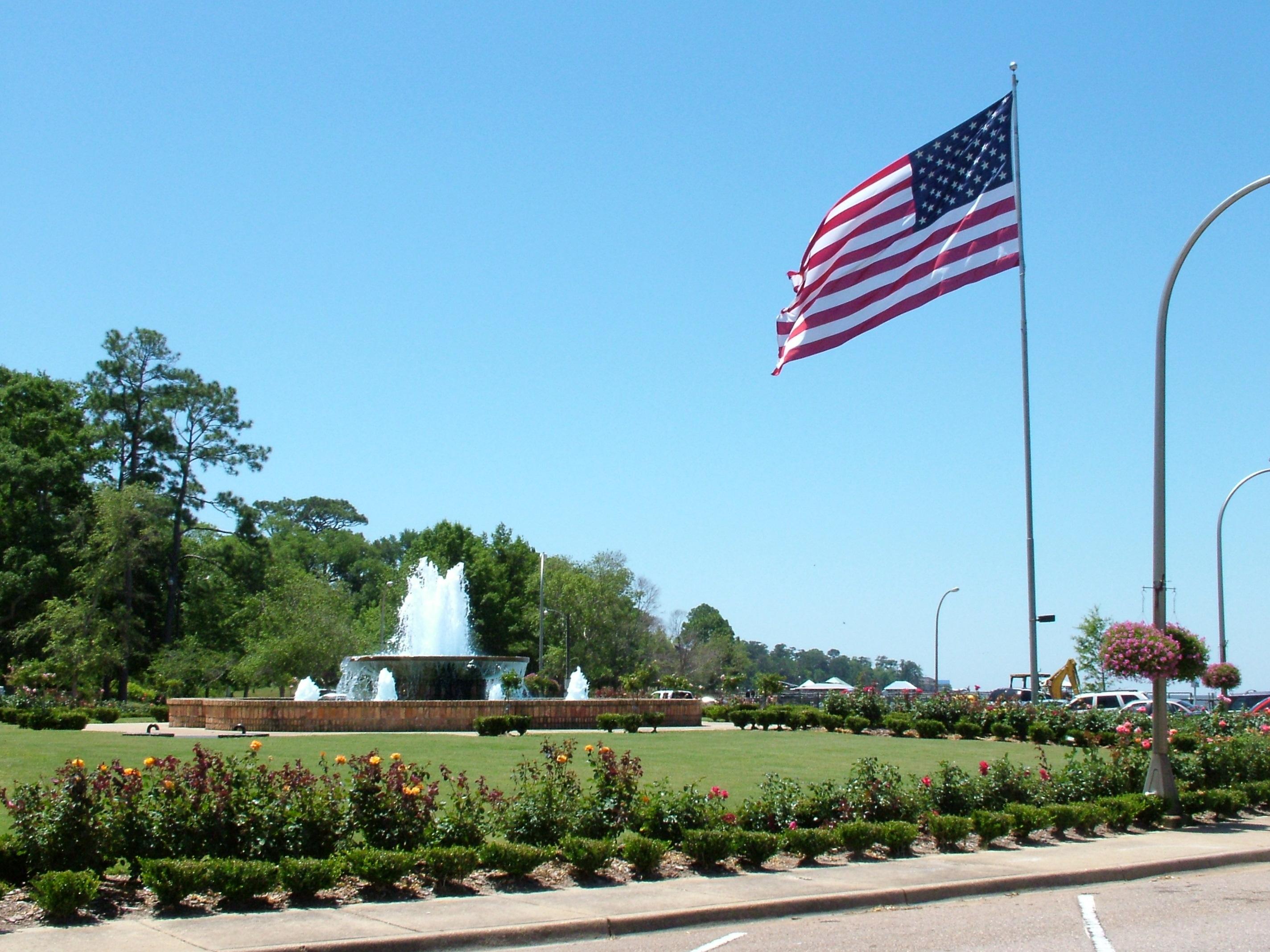 Fountain at the Municipal Pier