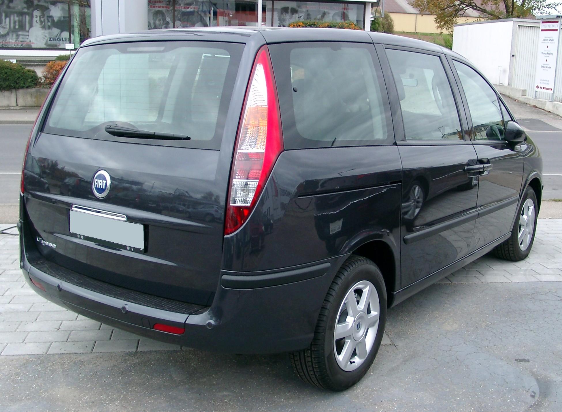File:Fiat Ulysse rear 20071104.jpg - Wikimedia Commons