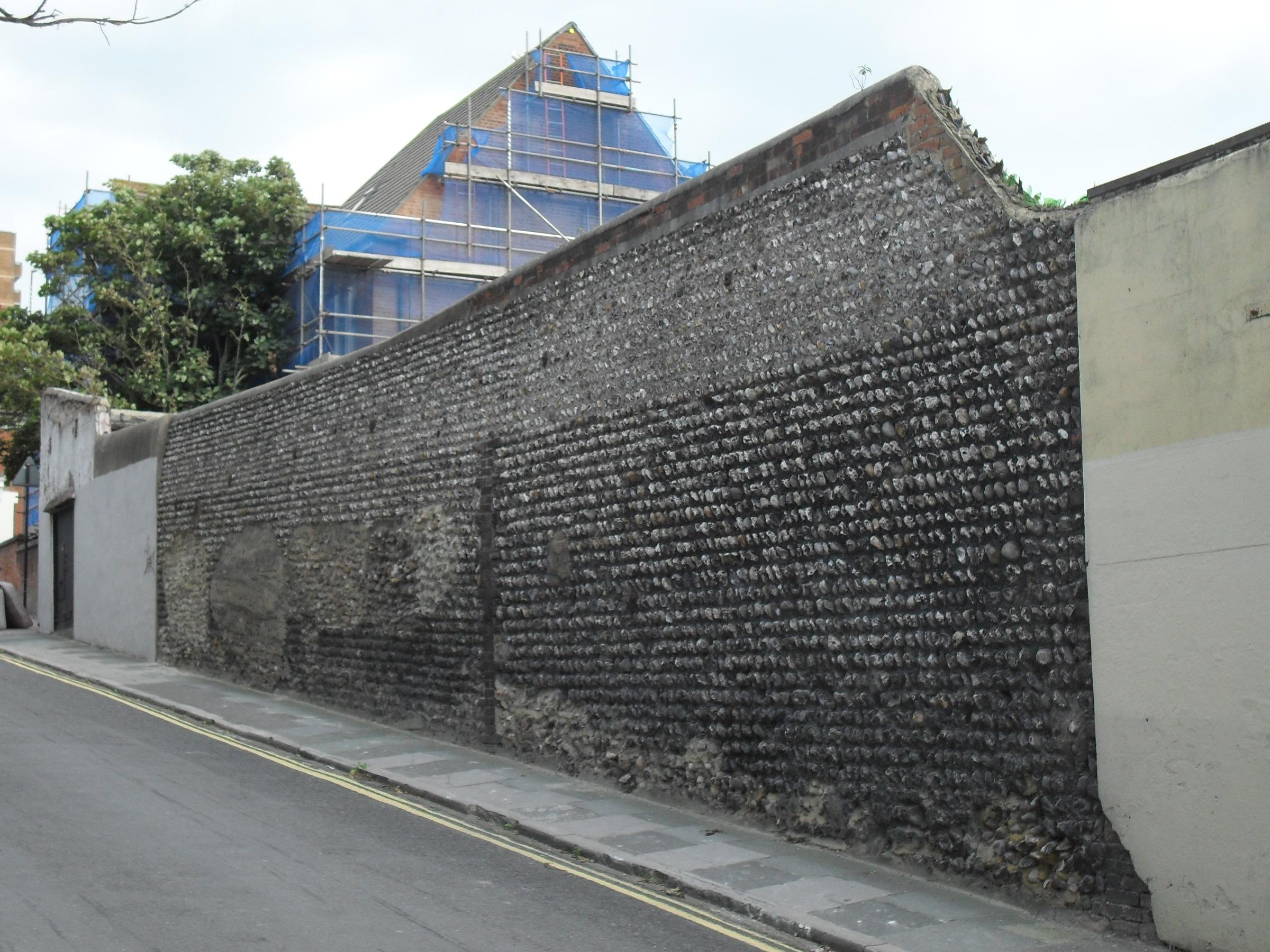 Bamboo Boundary Wall Design : File flint wall at carlton hill brighton g wikimedia