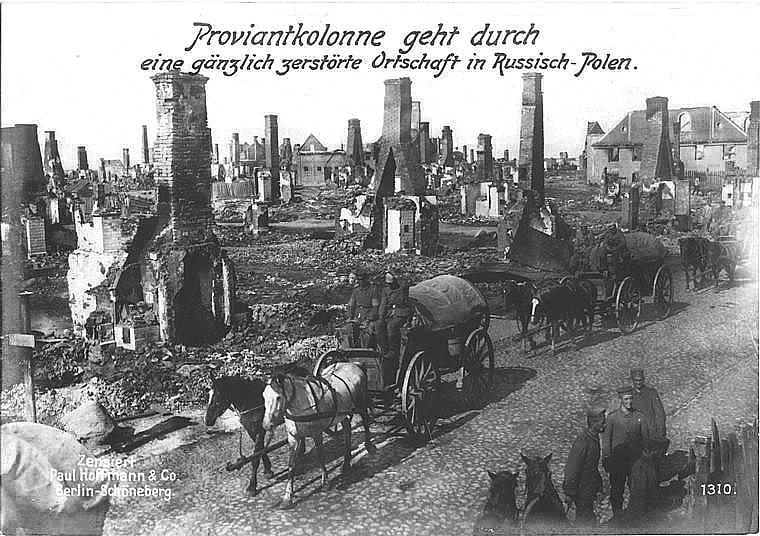Plik:German Army in destroyed Polish locality during World ...