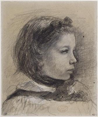Degas, Giulia Bellelli, étude