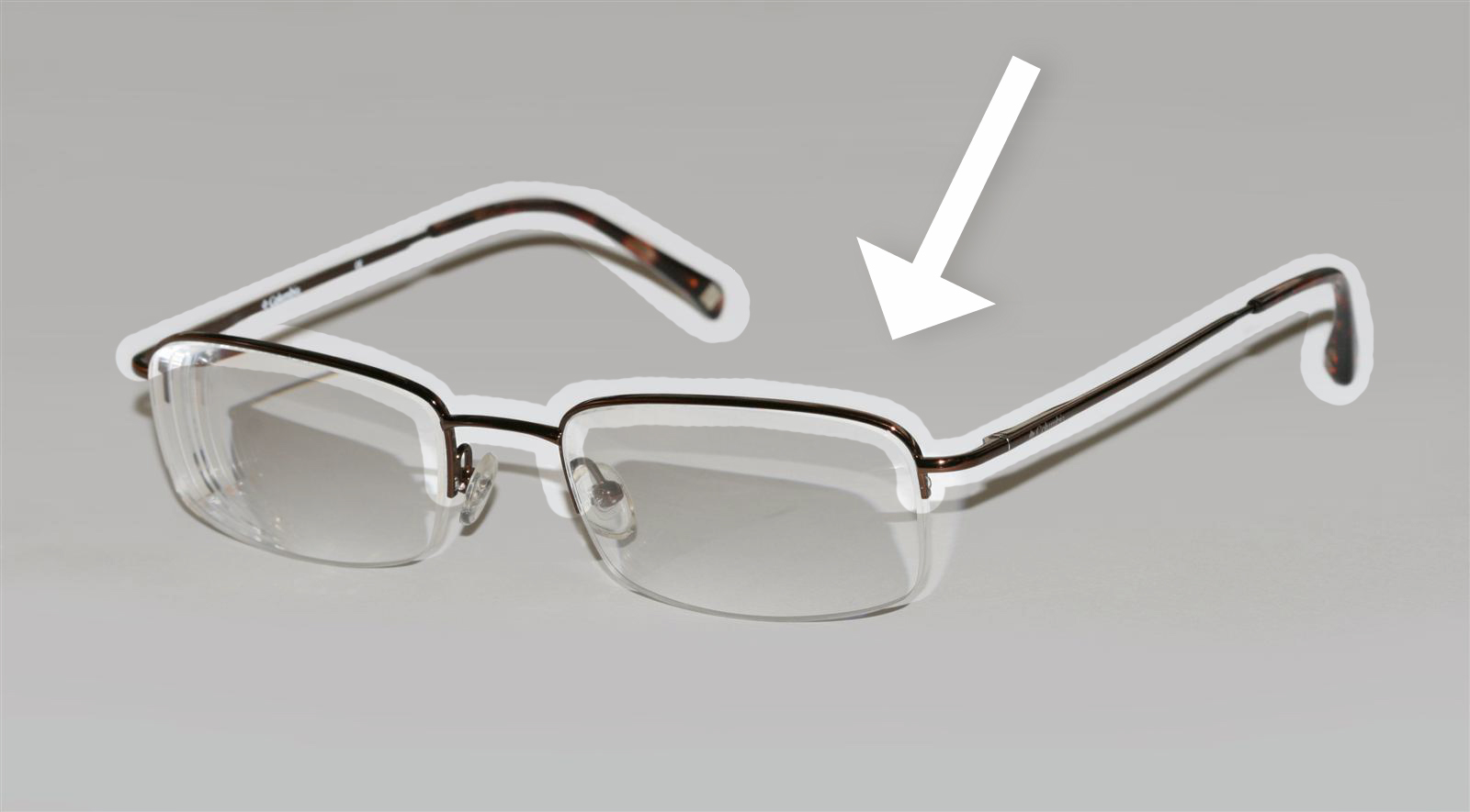 Glasses With Only Bottom Frame : File:Half rim glasses with frame highlighted.jpg ...