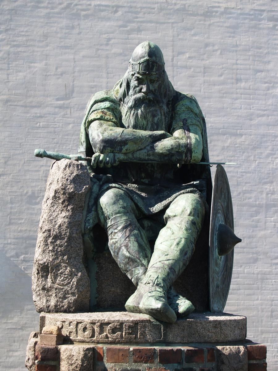 Holger Danske Vågner Statue af Holger Danske Ved