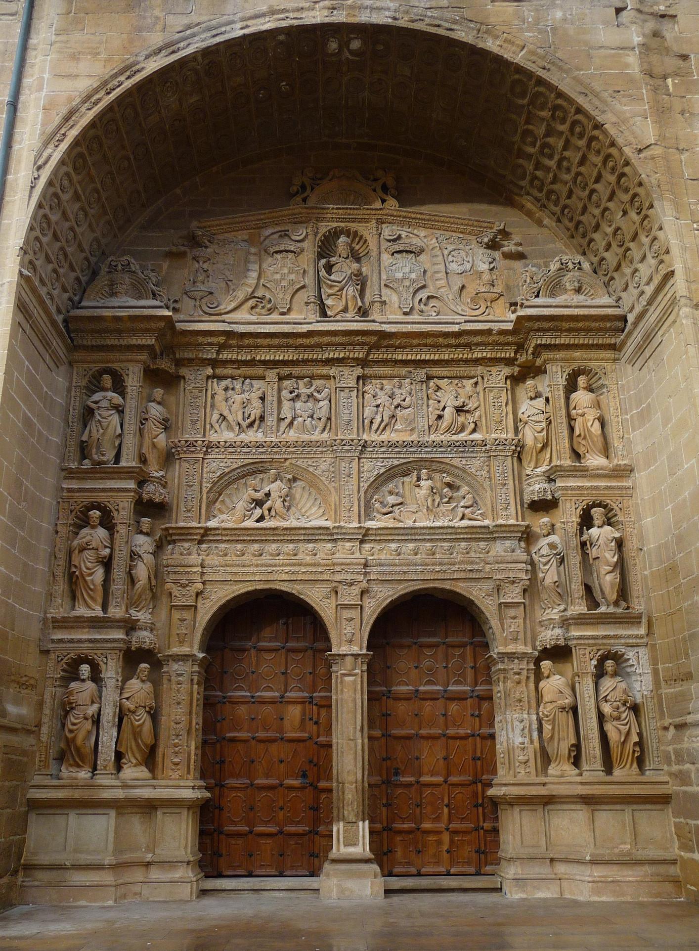 Portada de mediodía de la Iglesia de Santo Tomás de Haro